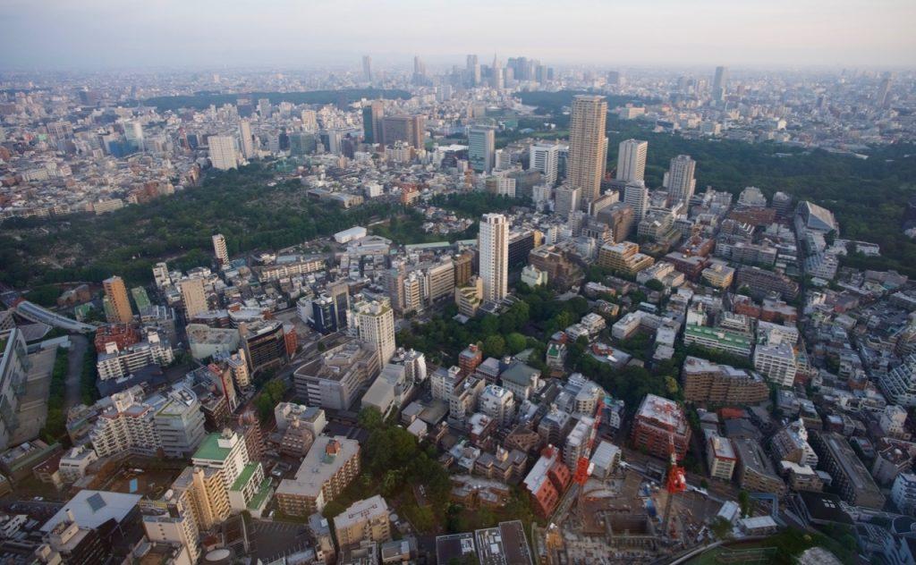 ザ・リッツ・カールトン東京53階最上階からの景色
