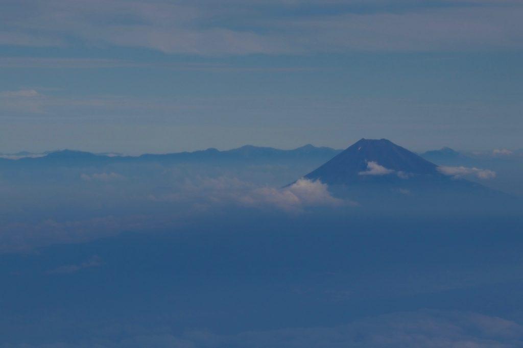 富士山の機窓写真