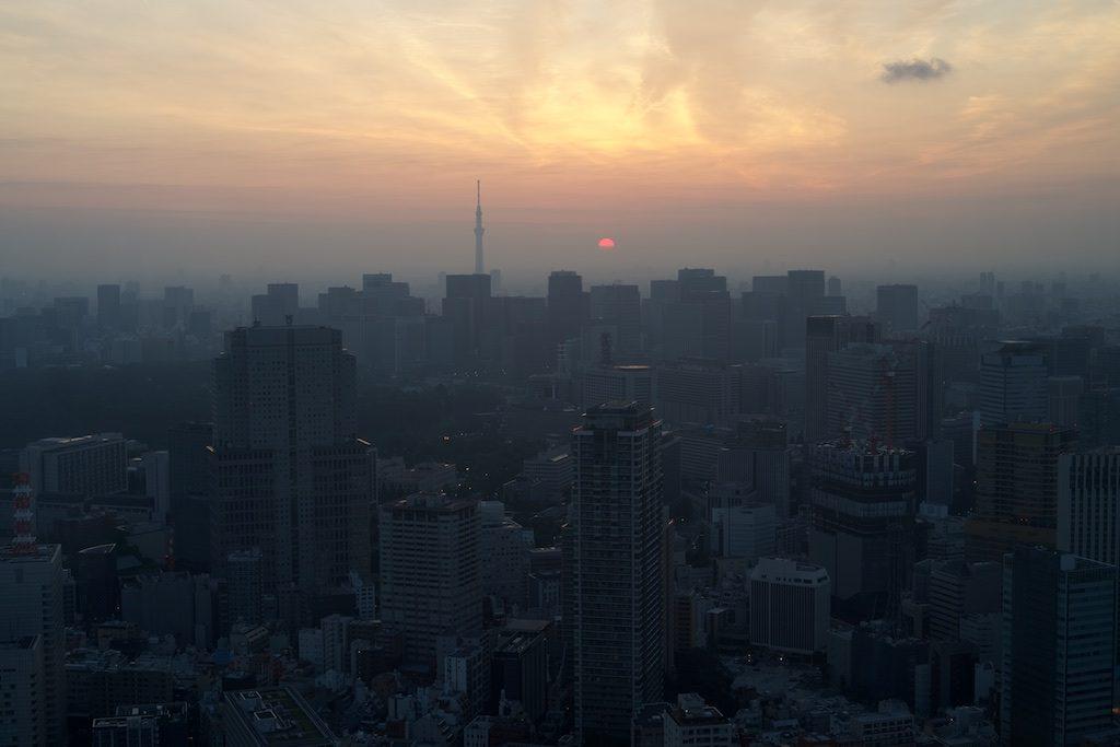 ザリッツカールトンスイートからの東京スカイツリーの景色